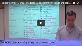Splashtop Classroom umożliwia nauczycielom udostępniać swój pulpit i aplikacje